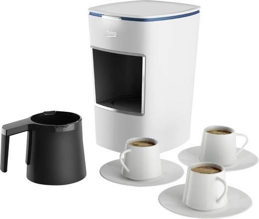 Turkish Coffee Machine Beko Bkk 2300 White Cups